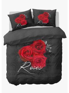 Nightlife Dekbedovertrek - Flower rose Rood