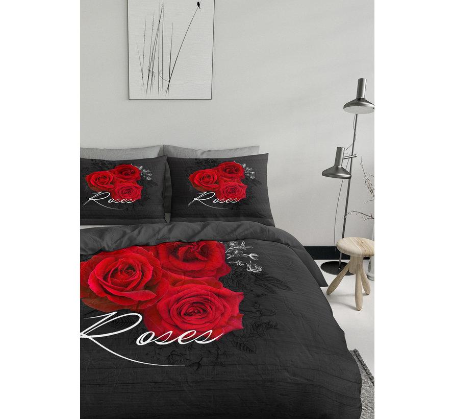 Dekbedovertrek - Flower rose Rood