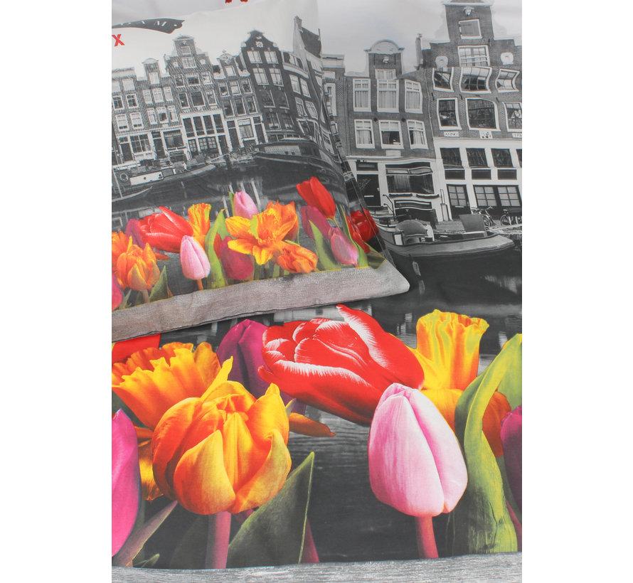 Dekbedovertrek - Amsterdam tulpen