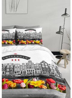 Nightlife Dekbedovertrek - Amsterdam tulpen