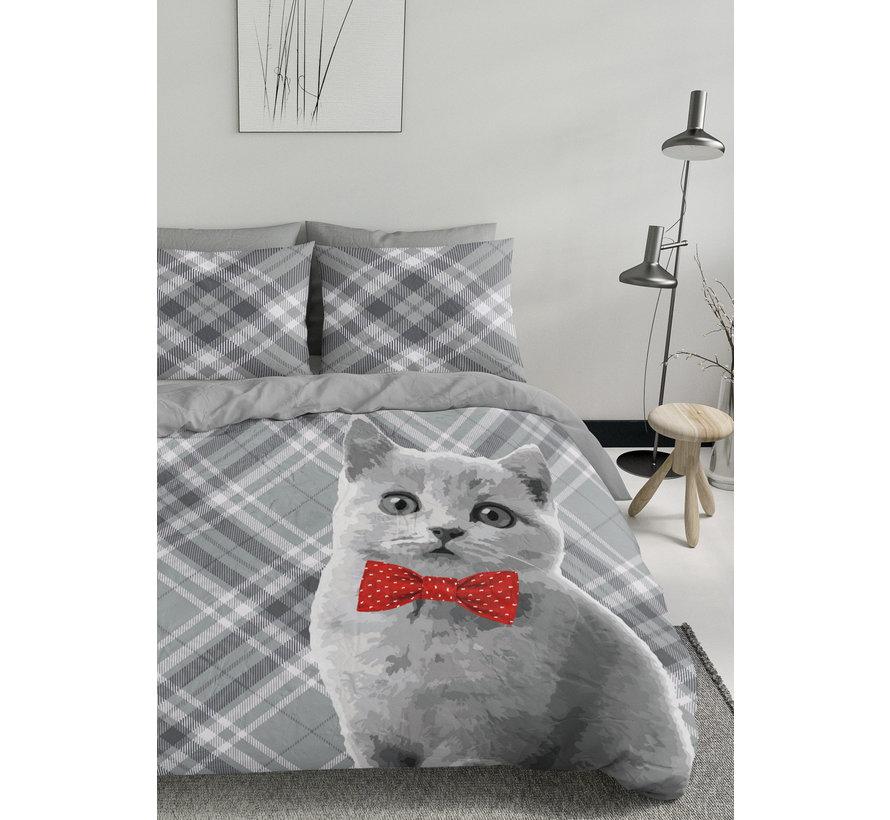 Dekbedovertrek - Kat met strik