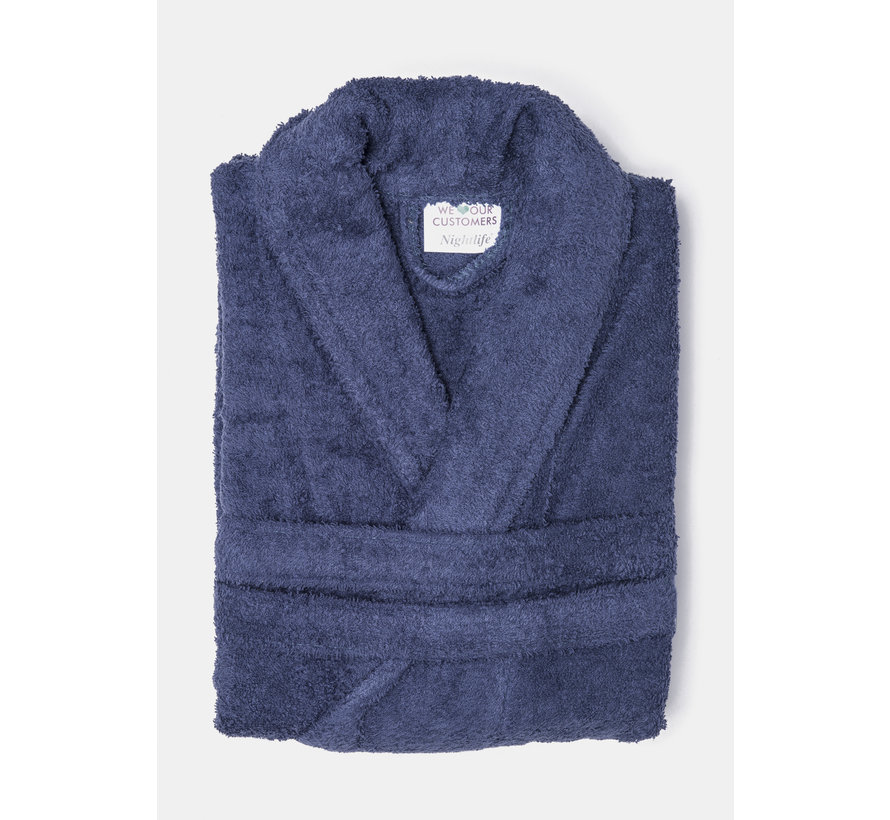 Badjas Donker Blauw