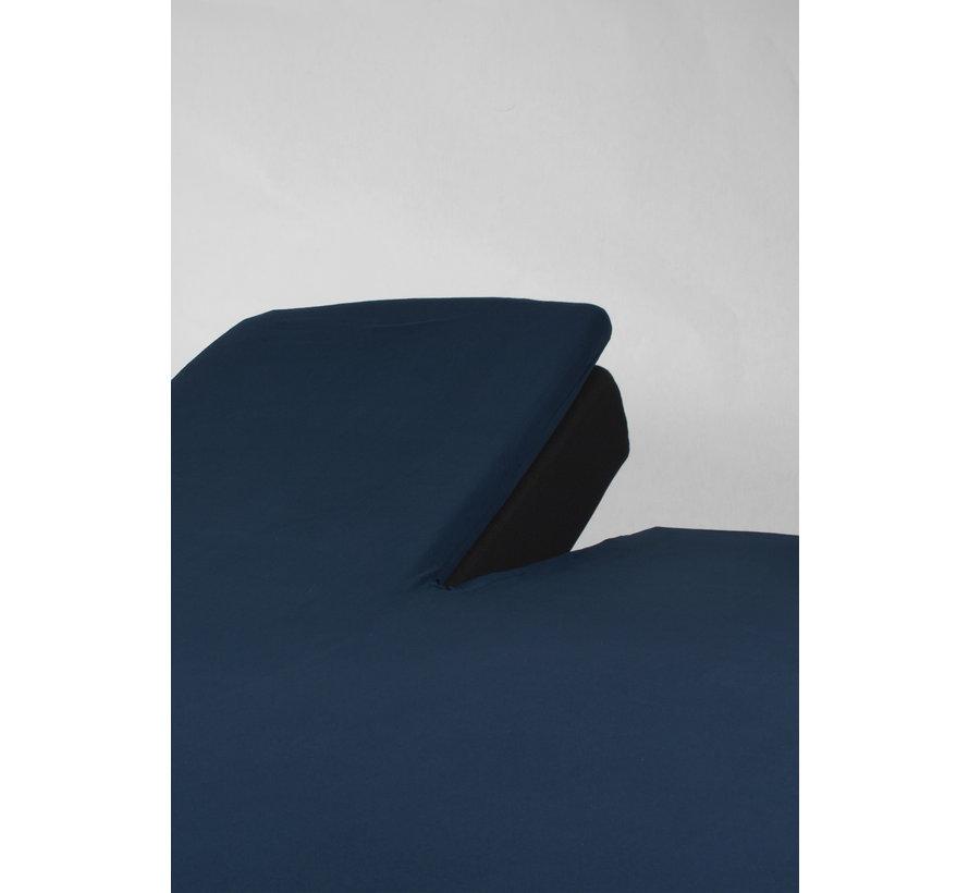 Splittopper Jersey Hoeslaken Navy Blauw