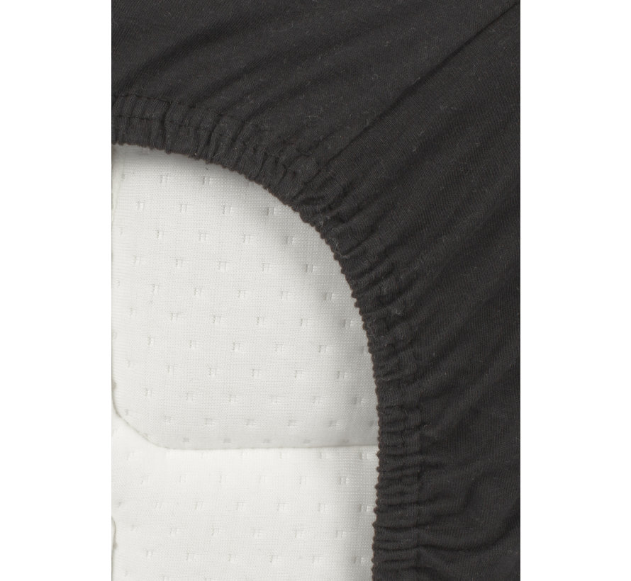 Splittopper Jersey Hoeslaken Zwart