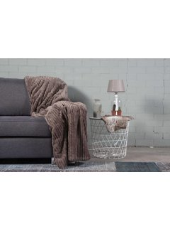 Nightlife Home Woondeken Flanel Rib Taupe 150x200