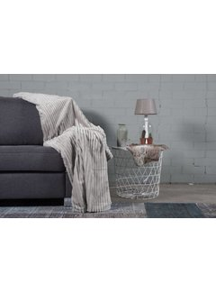 Nightlife Home Woondeken Flanel Rib Light Grijs  150x200