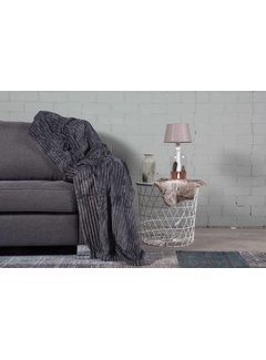 Nightlife Home Woondeken Flanel Rib Antraciet 150x200