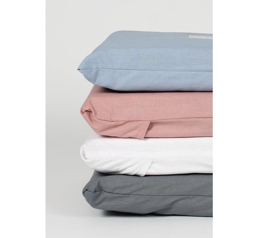 Kussenslopen - Cotton solid Wit (per 2 verpakt) 2x 60x70 cm 2x 60x70 cm