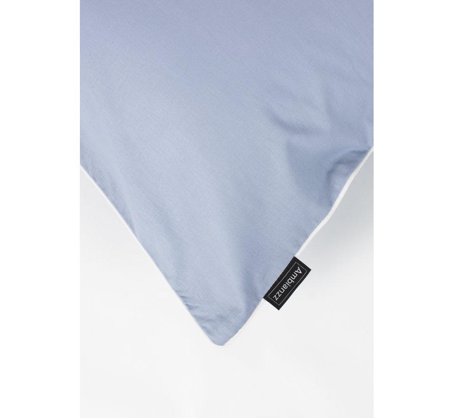 Kussenslopen - Cotton solid Blauw (per 2 verpakt) 2x 60x70 cm 2x 60x70 cm
