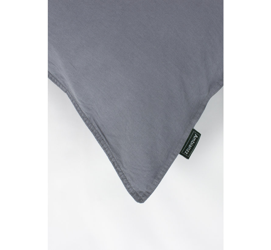 Kussenslopen - Vintage washed linnen katoen Donkergrijs (per 2 verpakt) 2x 60x70 cm 2x 60x70 cm