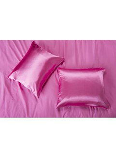 Nightlife Satin Satin pillow case Hot Pink