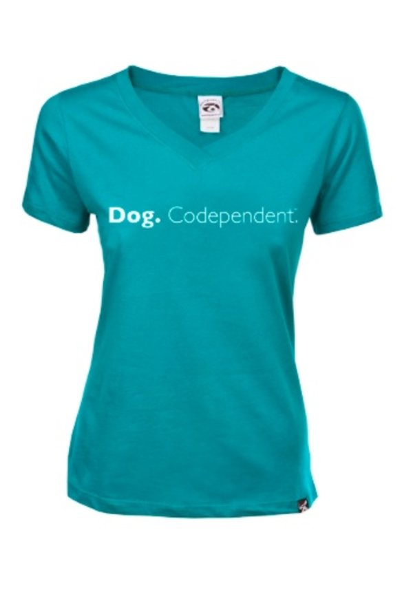 Dog is Good! Vrouwenmodel T-shirt 'Dog Codepedent'