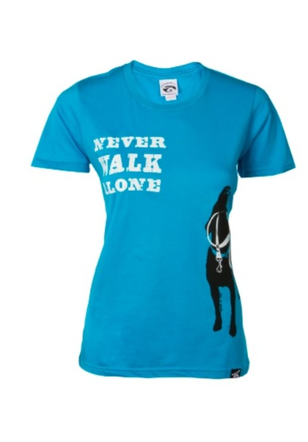 Dog is Good! Vrouwenmodel T-shirt 'Never Walk Alone'