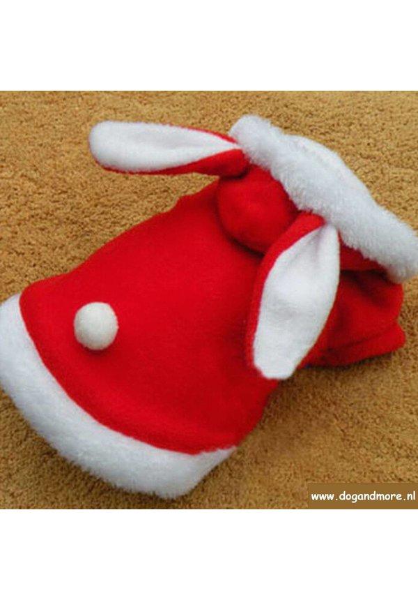 Honden Kerst Trui - Jasje met Konijnenoren