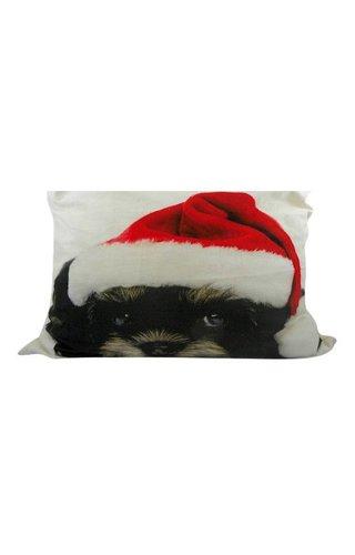 Sierkussen Kerst Bichon Frisé