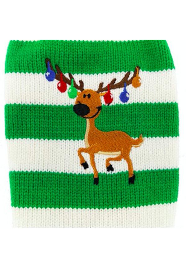 Honden Kerst Trui - Rendier groen/ wit