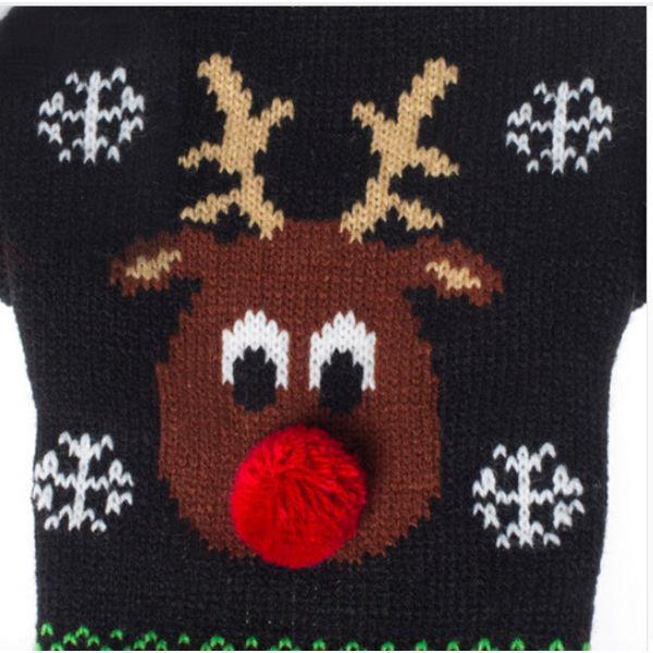 Honden Kerst Trui - Rendier zwart