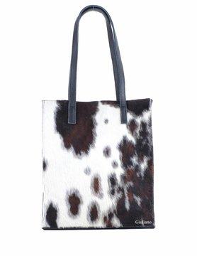 Leather shopper | Cowhide | Print