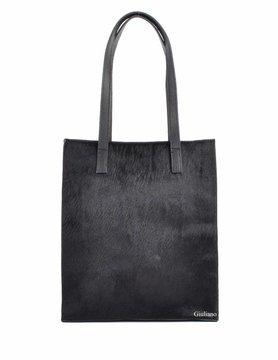 Leather shopper | Cowhide | Plain