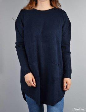 Sweater with balls | Dark blue