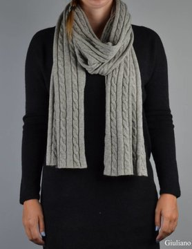 Scarf | Cables | Grey