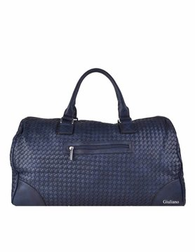 Artificial leather weekend bag | Braided