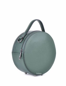 Leather handbag | Round