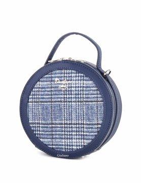 David Jones | Artificial leather handbag | Round | Tartan