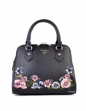 David Jones | Artificial leather handbag | Embroidered