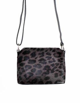Leather shoulderbag | Cowhide | Print
