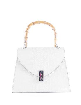 Leather handbag    Bamboo handles