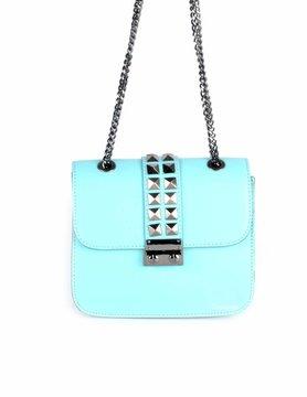 Leather shoulderbag   Studs