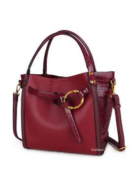 Artificial leather handbag | Croco