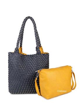 Artificial handbag | Braided | Reversable
