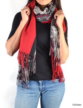 Scarf | Print | Red