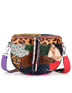 Leather shoulderbag | Cowhide | Print | Colored