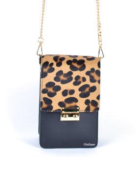 Leather shoulderbag | Panter