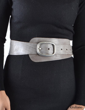 Wide belt - Taupe