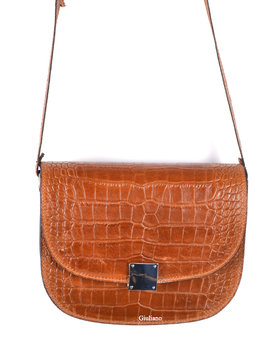 Leather shoulderbag | croco