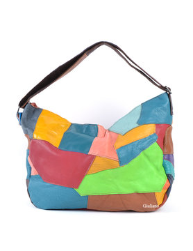 Leather handbag| Multicolor
