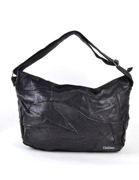 Leather handbag| Black