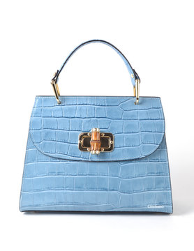 Leather handbag  | Bamboo closure