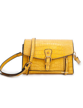 Artificial leather shoulderbag | Croco