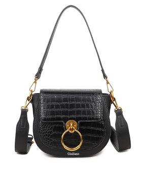 Artificial leather shoulderbag | Croco  | Ring