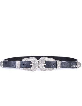 Belt - Buckle - croco