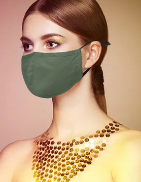 Fabric Face Masks  Uni  - Armygreen
