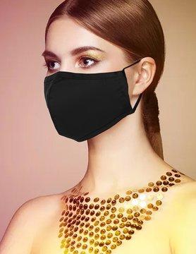Fabric Face Masks  Uni  - Black