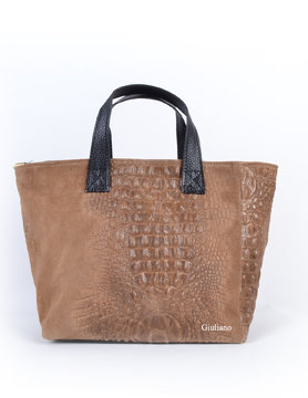 Leather handbag |  Croco