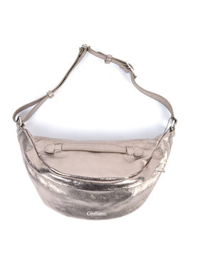 Leather shoulderbag or belt bag | 2-in-1  - Metallic