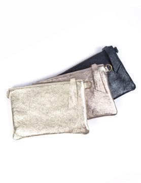Suède shoulderbag Metallic